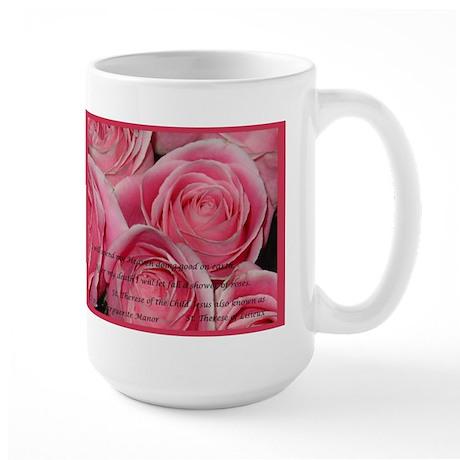 Shower of Roses, St. Therese Large Mug