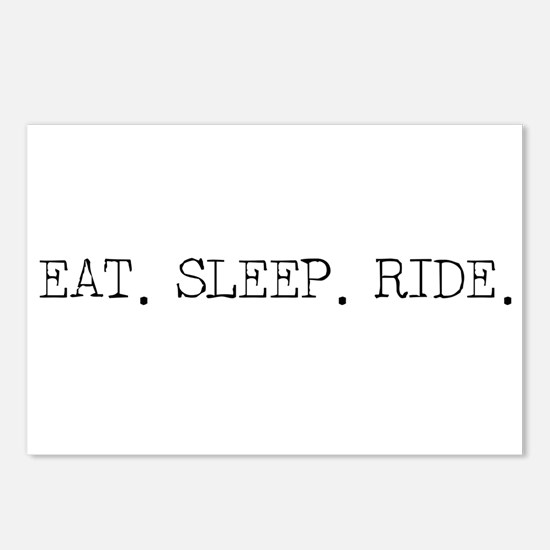 Eat Sleep Ride Postcards (Package of 8)