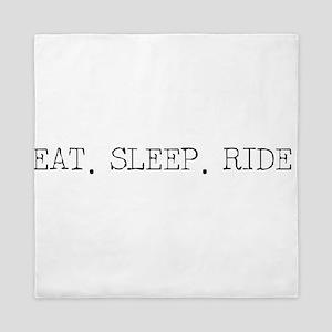 Eat Sleep Ride Queen Duvet