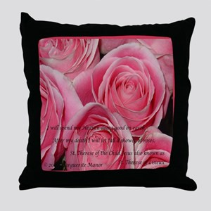 Shower of Roses, St. Therese Throw Pillow