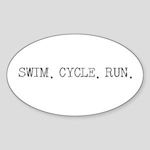 Swim Cycle Run Sticker
