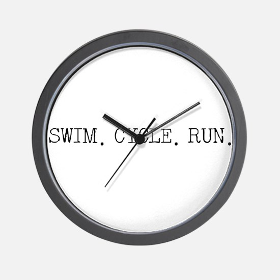Swim Cycle Run Wall Clock