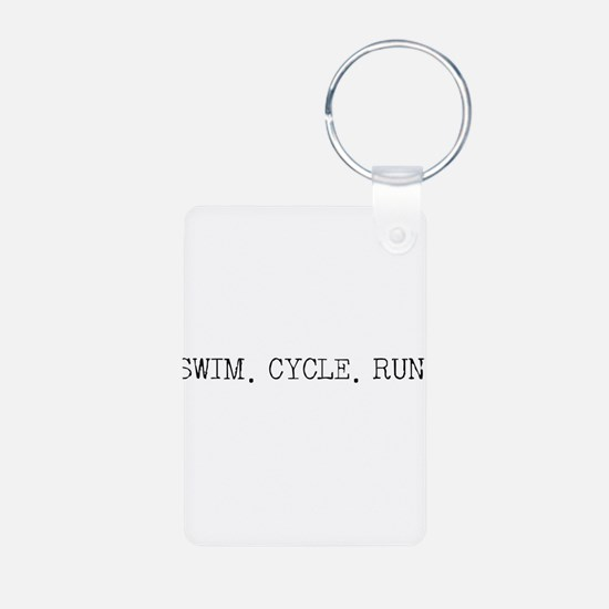 Swim Cycle Run Keychains