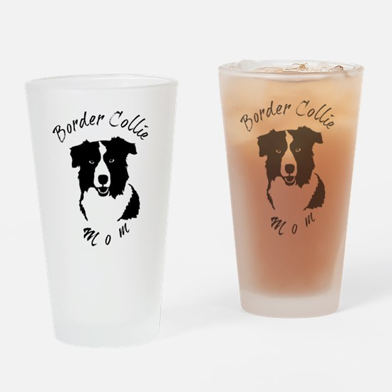 Cute Dog foster mom Drinking Glass