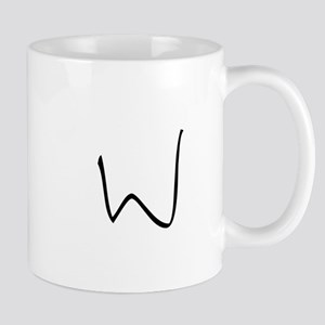 Elementary Monogram W Mug