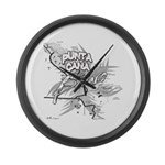 Punta Cana Bavaro Map Large Wall Clock