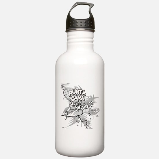 Punta Cana Bavaro Map Water Bottle