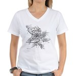 Punta Cana Bavaro Map Women's V-Neck T-Shirt