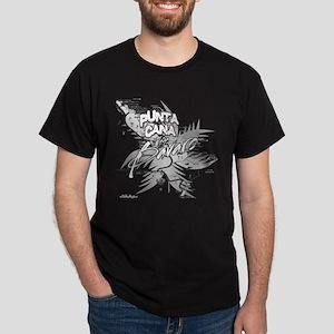 Punta Cana Bavaro Map Dark T-Shirt