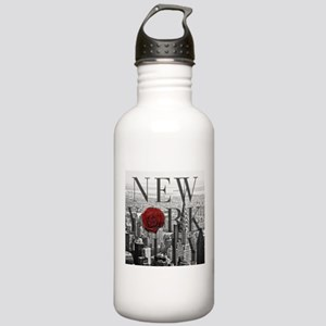 NY Skyline Rose Water Bottle