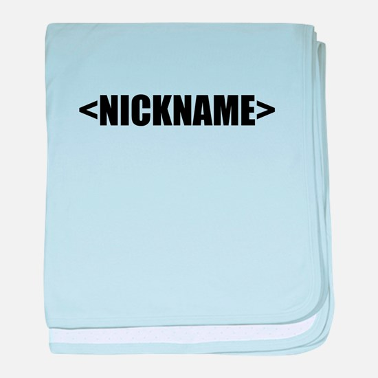 Nickname Personalize It! baby blanket