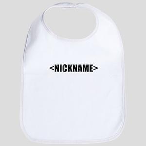 Nickname Personalize It! Bib