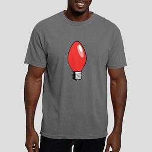 Red Christmas Tree Light Bulb Mens Comfort Colors