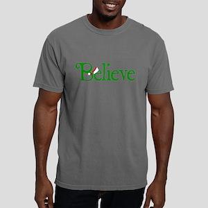 Believe with Santa Hat Mens Comfort Colors Shirt