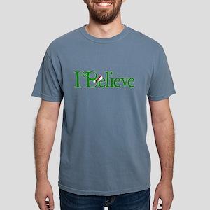 I Believe with Santa Hat Mens Comfort Colors Shirt