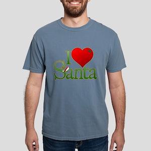 I Heart Santa Mens Comfort Colors Shirt