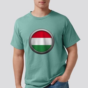 Round Flag - Hungary Mens Comfort Colors Shirt