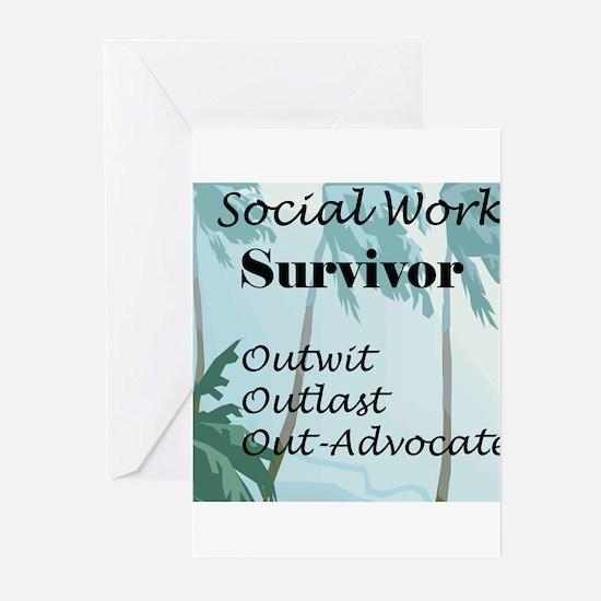 Social Work Survivor Greeting Cards