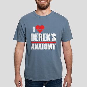 I Heart Derek's Anatomy Mens Comfort Colors Shirt