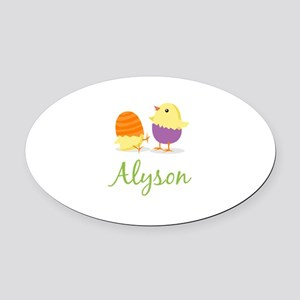 Easter Chick Alyson Oval Car Magnet