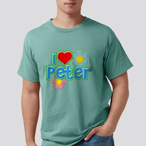 I Heart Peter Mens Comfort Colors Shirt