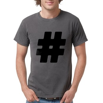 Black #Hashtag Mens Comfort Colors Shirt