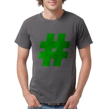 Green #Hashtag Mens Comfort Colors Shirt