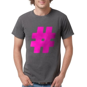 Hot Pink #Hashtag Mens Comfort Colors Shirt