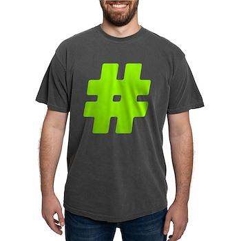 Neon Green #Hashtag Mens Comfort Colors Shirt