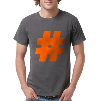 Orange #Hashtag Mens Comfort Colors Shirt