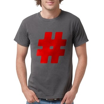 Red #Hashtag Mens Comfort Colors Shirt