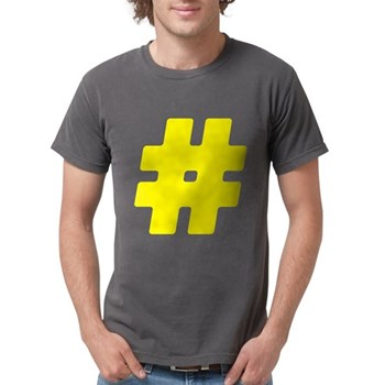 Yellow #Hashtag Mens Comfort Colors Shirt