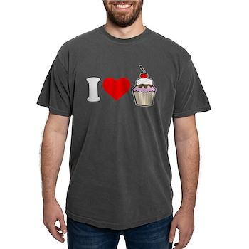 I Heart Cupcake Mens Comfort Colors Shirt