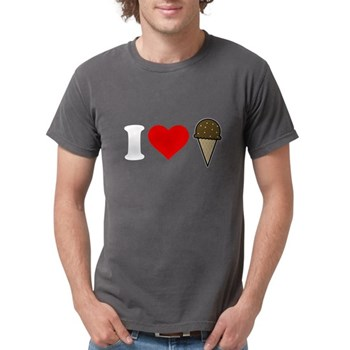 I Heart Ice Cream Cone Mens Comfort Colors Shirt