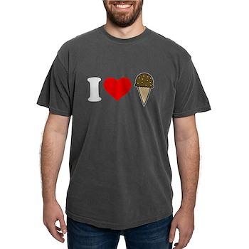 I Heart Ice Cream Cone Mens Comfort Colors Shirt