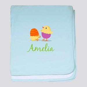 Easter Chick Amelia baby blanket