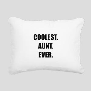 Coolest Aunt Ever Rectangular Canvas Pillow
