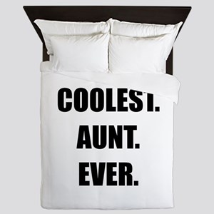 Coolest Aunt Ever Queen Duvet
