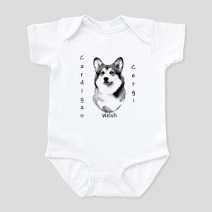 Cardigan Charcoal Infant Bodysuit