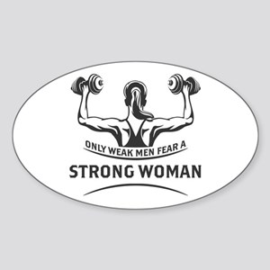 Strong Woman Sticker (Oval)