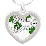 st patricks Silver Heart Necklace