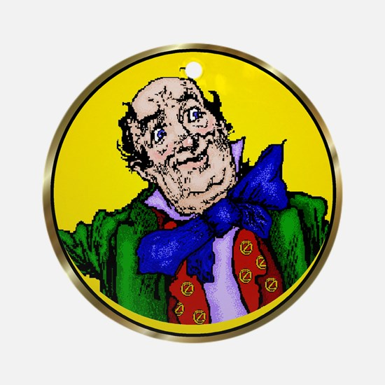 Wizard of Oz Yellow Round Ornament