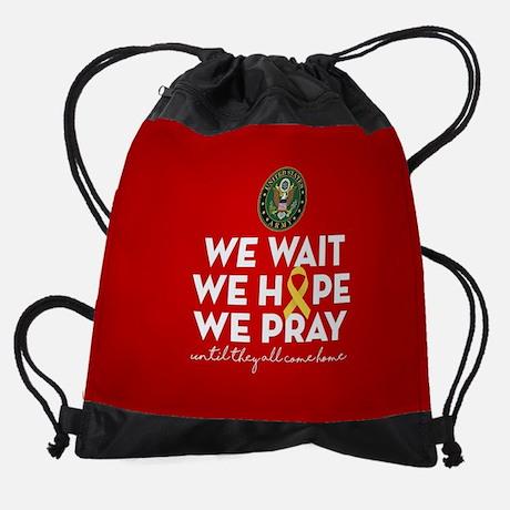 Army We Wait Hope Prey Red Friday Drawstring Bag