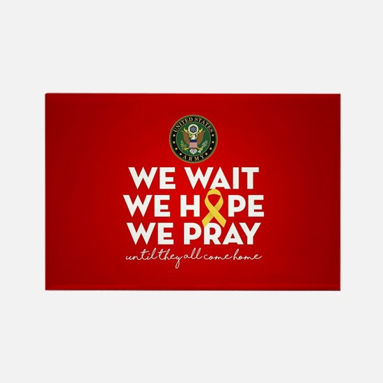 Army We Wait Hope Pray Rectangle Magnet