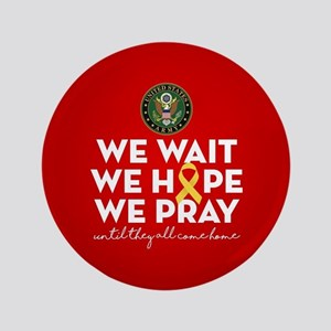Army We Wait Hope Pray Button