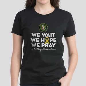 Army We Wait Hope Pray Women's Dark T-Shirt
