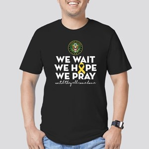 Army We Wait Hope Pray Men's Fitted T-Shirt (dark)