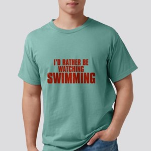 I'd Rather Be Watching Swimmi Mens Comfort Colors