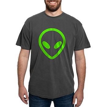 Neon Green Distressed Alien Mens Comfort Colors Sh
