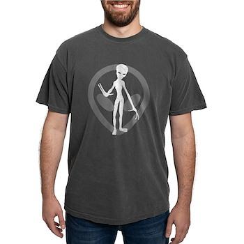 Distressed Alien Mens Comfort Colors Shirt